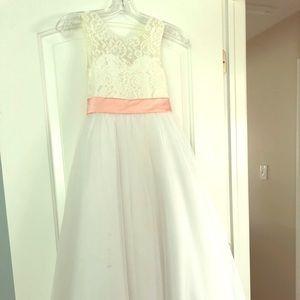 Flower girl or communion dress
